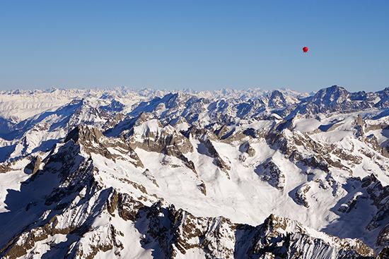 EUTER über den Alpen